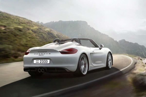 Rent a 2016 Porsche Boxster Spyder 10 in Dubai
