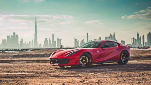 Rent Ferrari Superfast 812 in Dubai
