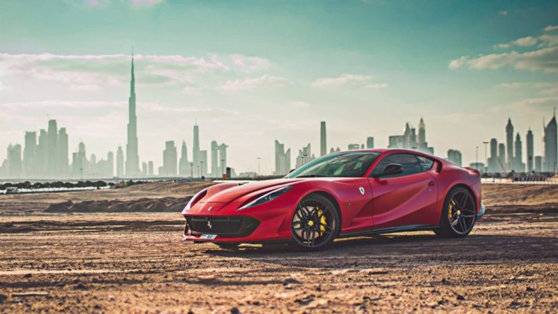 Rent Ferrari Superfast 812 in Dubai