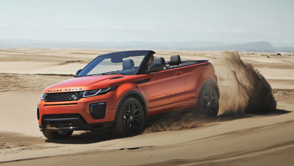 Rent Range Rover Convertible Evoque in Dubai